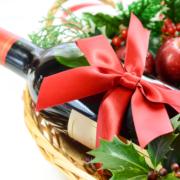 Christmas gift wine